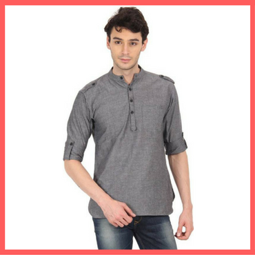 Grey Kurta for Men - Dressprise.com