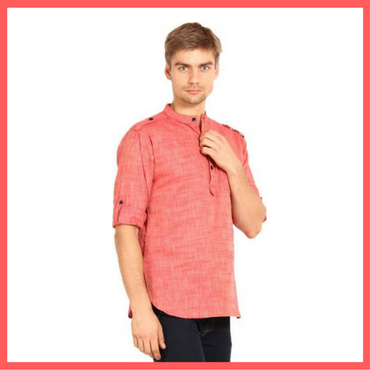 Pink Kurta for Men : Dressprise.com