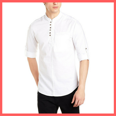 White Ethnic Shirt for Holi