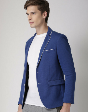 INVICTUS Blue Slim Fit Single-Breasted Smart Casual Blazer
