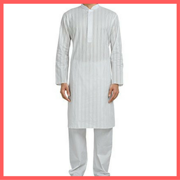 White Kurta - Pyjama for Holi