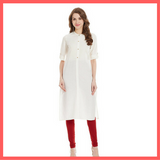 White Kurti for Holi