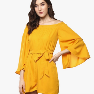 Mustard Yellow Solid Jumpsuit