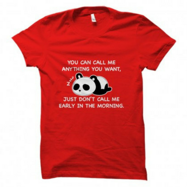 Don't Call Me - Panda T-Shirt