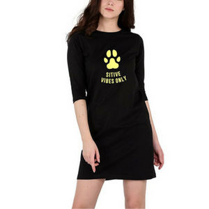 Pawsitive Vibes Only T-Shirt Dress