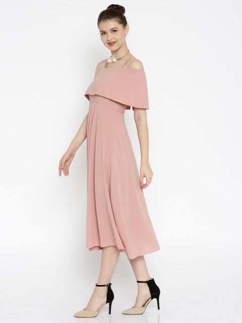 SASSAFRAS Women Pink Fit & Flare Dress