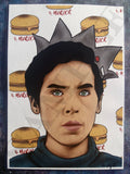 "Jughead Jones Art Print Cole Sprouse Riverdale ""Burgers and Murder"""