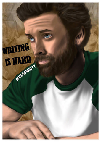 Chuck/God Art Print Rob Benedict Supernatural CW