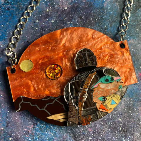 PREORDER Space Western Acrylic Necklace