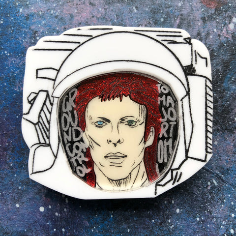 Space Oddity Acrylic Brooch