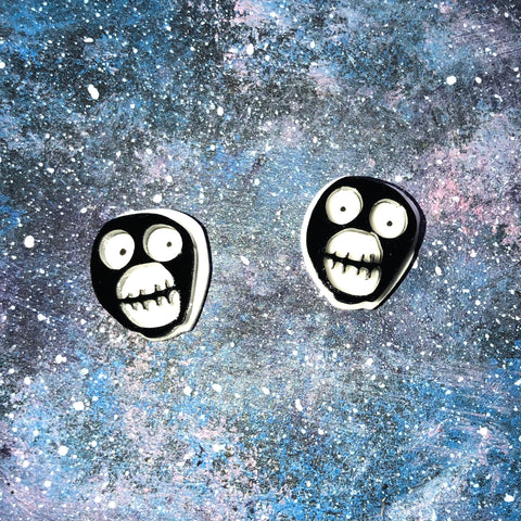 Time and Space acrylic earring studs