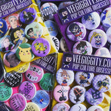 "Mean Girls 1"" button set badges burn book"