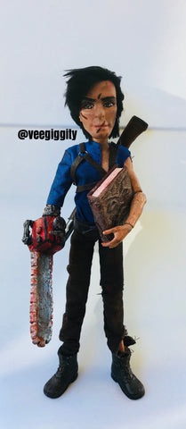 Ash from Evil Dead Doll Repaint custom OOAK