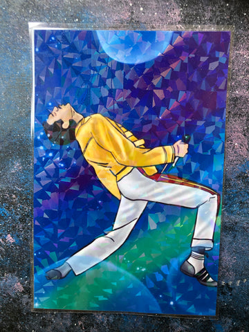 Freddie Mercury Art Print Queen holographic