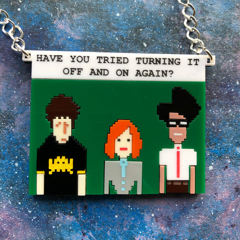 IT Crowd Acrylic Necklace