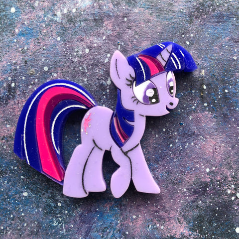 Twilight Sparkle Acrylics brooch