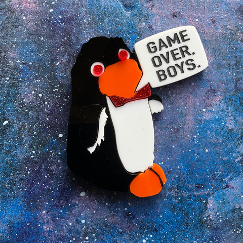Mr Flibble Acrylic brooch Red Dwarf Rimmer Game Over Boys