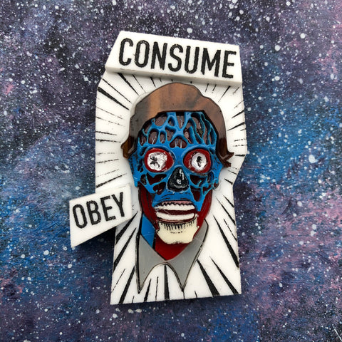 They Live Acrylic Brooch