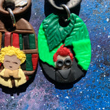 Aziraphale and Crowley Earrings Polymer Clay Good Omens Michael Sheen David Tennant