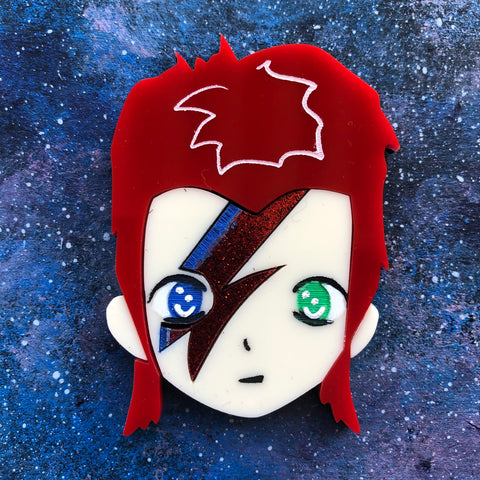 Little Bowie Acrylic Brooch Little Rockers David
