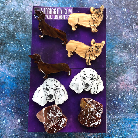 Dogs Dogs Dogs Acrylic Earring Set