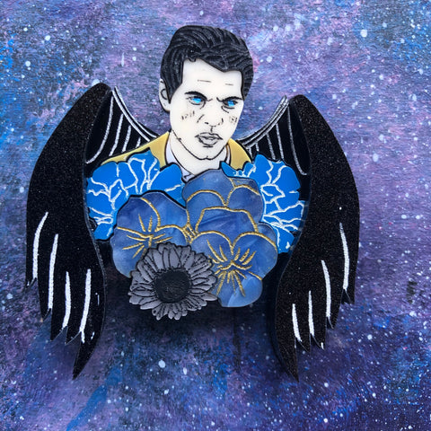 Castiel Flowers Acrylic Brooch Supernatural Winchester