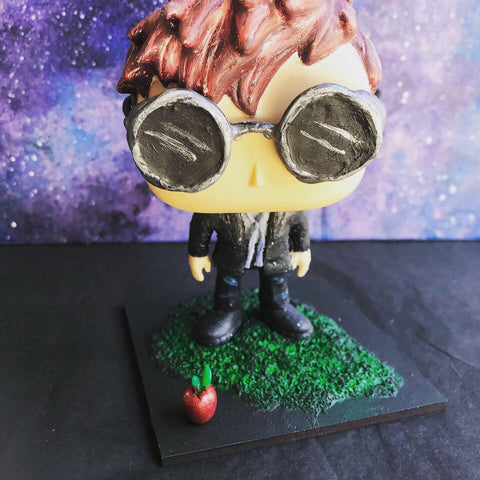 Crowley Custom Pop Vinyl OOAK Good Omens David Tennant Doll Repaint