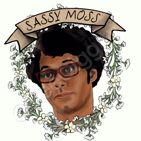 Sassy Moss A5 art print Man Crush Monday IT crowd Richard Ayoade Maurice