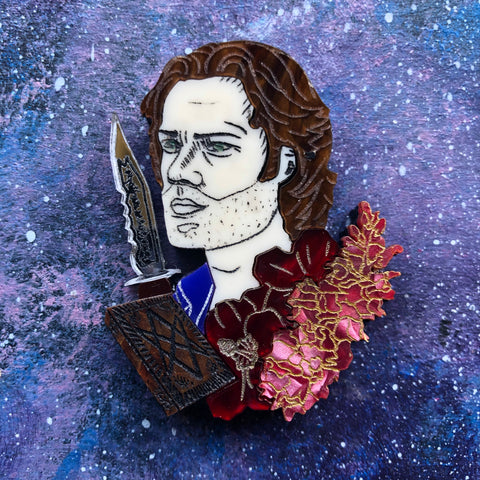 Sam Winchester Flowers Acrylic Brooch Supernatural