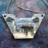 Hoth Scene Acrylic Statement necklace Star Wars