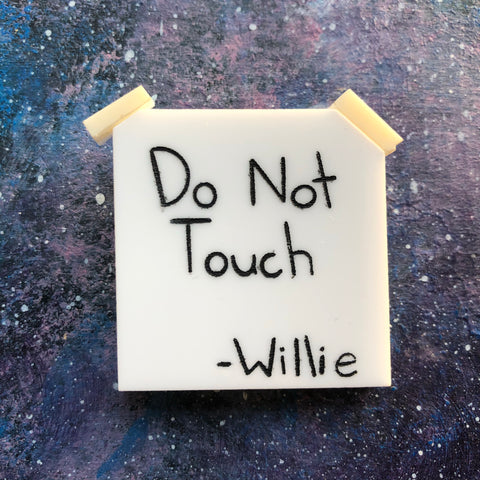 Do not touch Willie Acrylic Brooch
