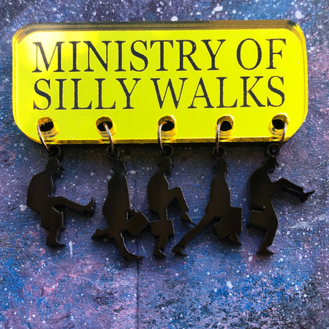 Ministry of Silly Walks Dangly Acrylic Brooch