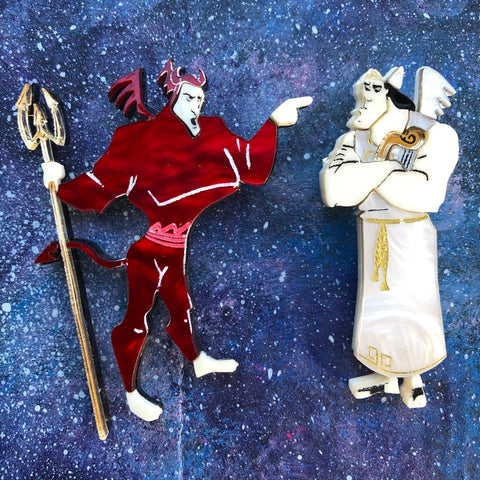 Kronk Angel and Devil Acrylic Brooch Set