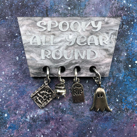 Spooky All Year Round Acrylic Brooch