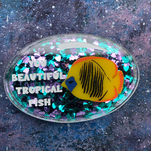 You Beautiful Tropical Fish Acrylic Brooch