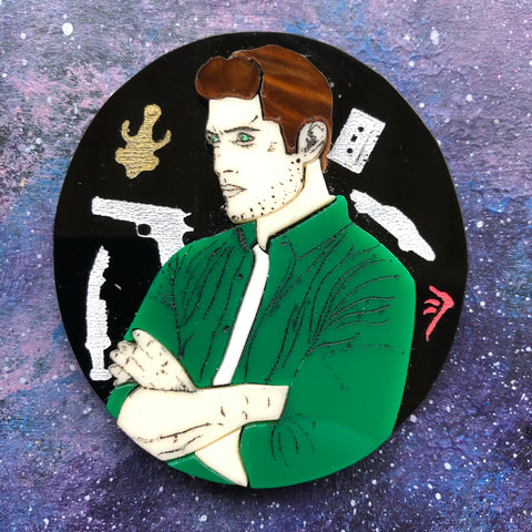 Dean Winchester Acrylic Brooch Portrait Supernatural