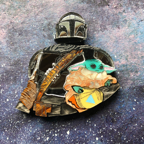 PREORDER Space Daddy Acrylic Brooch