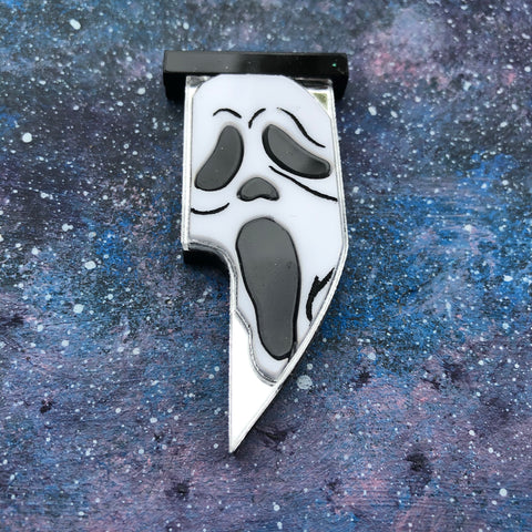 Scream Knife Acrylic Brooch