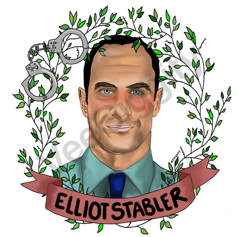 Elliot Stabler A5 art print Man Crush Monday Law and Order SVU Christopher Meloni