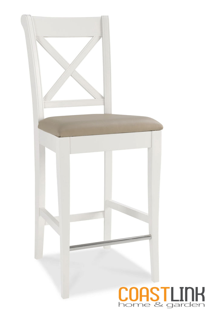 Heritage Bar Stool Cross Back (Sold as pair)