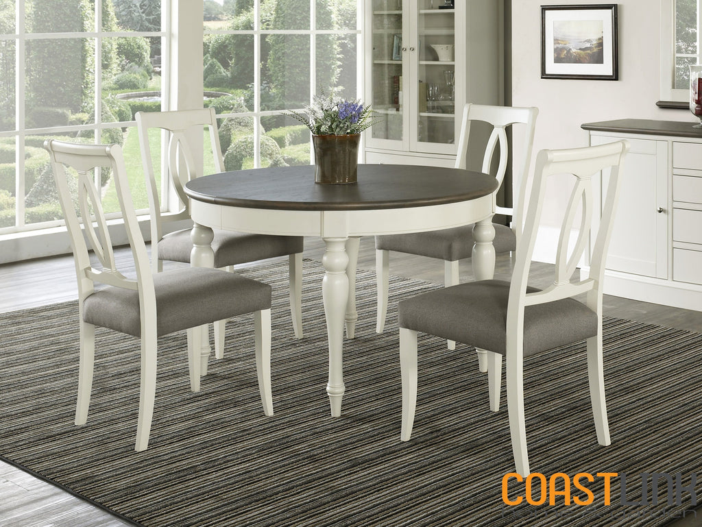 Vegas 5-Piece Round-To-Oval Extension Dining Set
