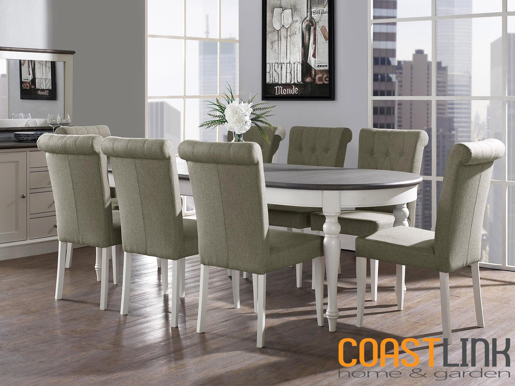 Vegas Oval Extension 9-piece Dining Set