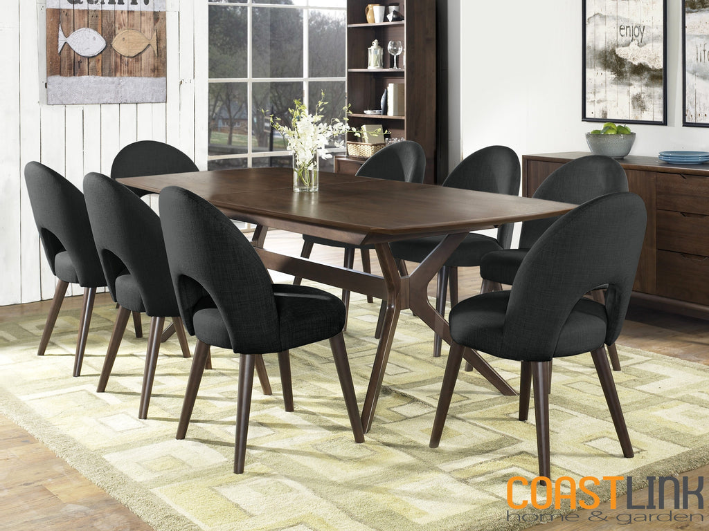 Hawaii Walnut 9-piece Extension Dining Set
