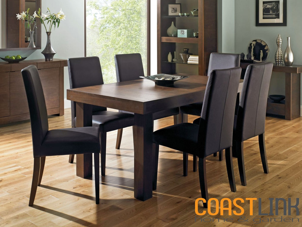 Kita Walnut 7-Piece Extension Dining Set