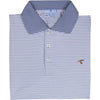 SLATE CLASSIC STRIPE PERFORMANCE POLO