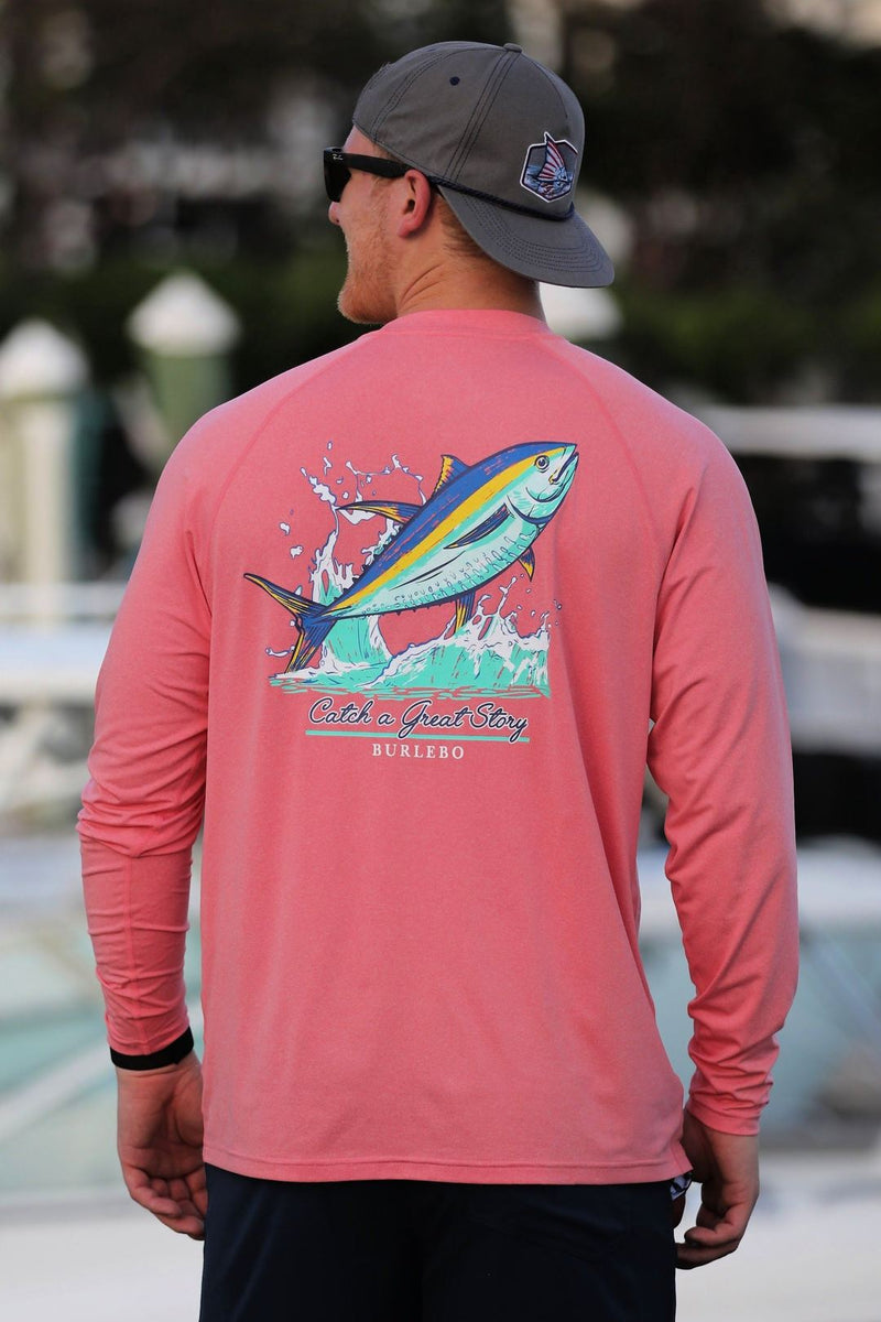 Catch a Great Story Sun Tee - Coral