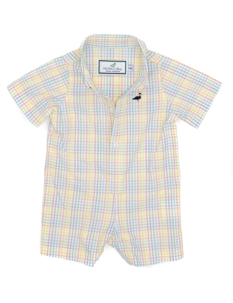 LD SEASONAL WOVEN SHORTALL WATERCOLOR