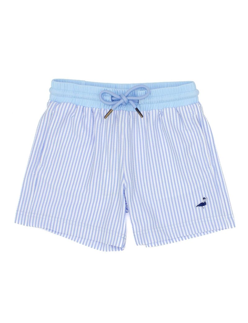 LD ALEX SWIM TRUNK BLUE SEERSUCKER