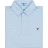AQUA PINSTRIPE PERFORMANCE POLO