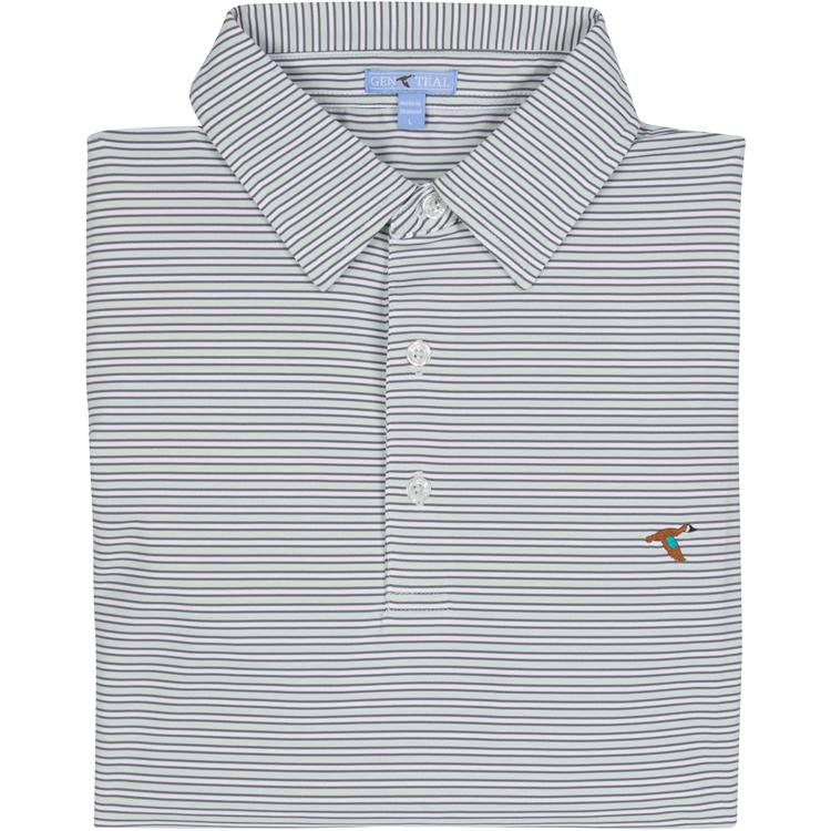ATLANTIS HARBOR STRIPE PERFORMANCE POLO